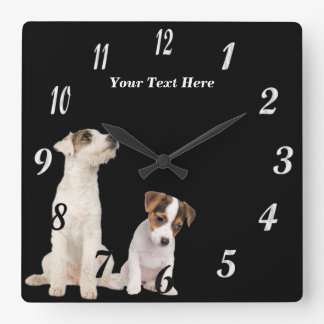 Precious Jack Russell Terrier Puppies Wall Clock