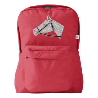 PRECIOUS JEWELS DIAMOND HORSE Backpack, Red Backpack