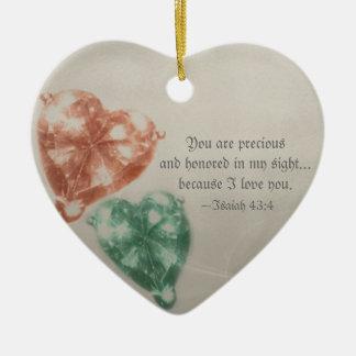 Precious Jewels Scripture Ceramic Heart Decoration
