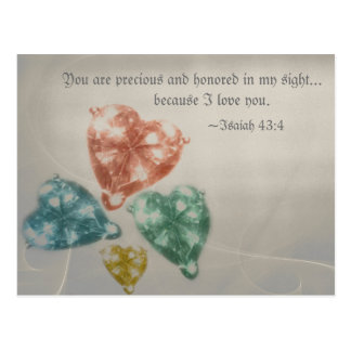 Precious Jewels Scripture Postcard