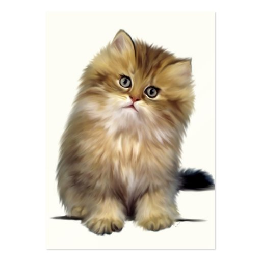 Precious Kitten ACEO Art Trading Cards Business Card Template