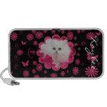 Precious Kittens & Cats Pink Flowers Mini Speaker