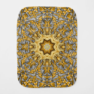 Precious Metal Kaleidoscope  Burp Cloth