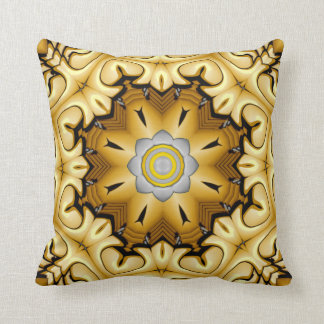 Precious Metal Kaleidoscope Pattern Throw Pillows
