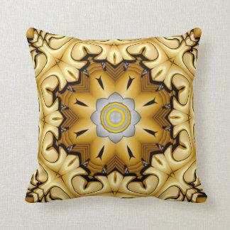 Precious Metal Kaleidoscope Pattern Throw Pillows
