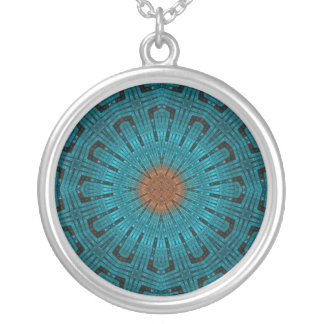 Precious Metal Medallion Round Pendant Necklace