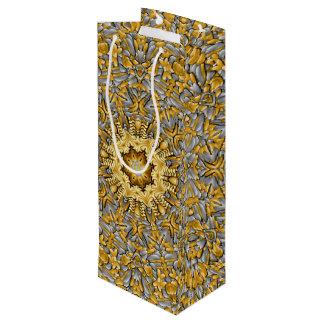 Precious Metal Vintage Kaleidoscope   Wine Bags