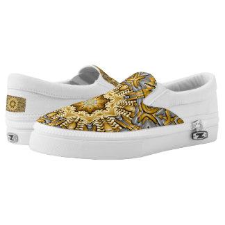 Precious Metal Zipz US Men & Women,  gold & silver Slip-On Shoes