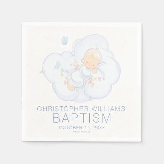 Precious Moments | Boy - Baptism Disposable Napkins