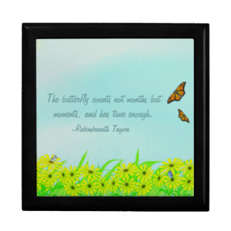 Precious Moments Butterflies Quote Trinket Box