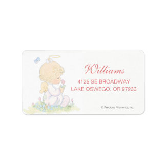 Precious Moments | Girl - Baptism Label
