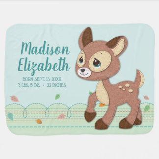 Precious Moments | Woodland Baby Deer Little One Baby Blanket