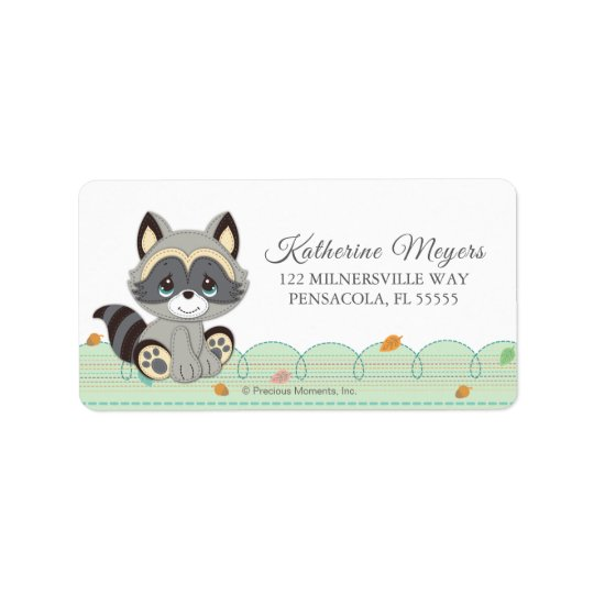 Precious Moments   Woodland Baby Shower Label