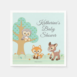 Precious Moments | Woodland Baby Shower Paper Napkins