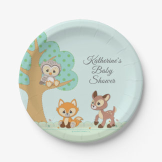 Precious Moments | Woodland Baby Shower Paper Plate
