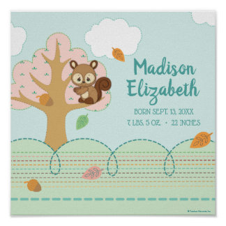 Precious Moments | Woodland Baby Squirrel Poster