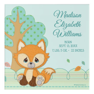 Precious Moments | Woodland Sweet and Clever Fox Acrylic Wall Art