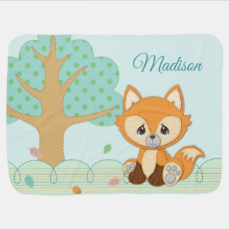Precious Moments | Woodland Sweet and Clever Fox Baby Blanket