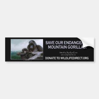 """""""PRECIOUS"""" Mountain Gorillas Bumper Sticker"""