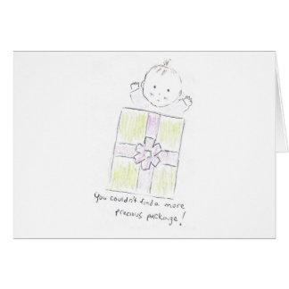 Precious package greeting card