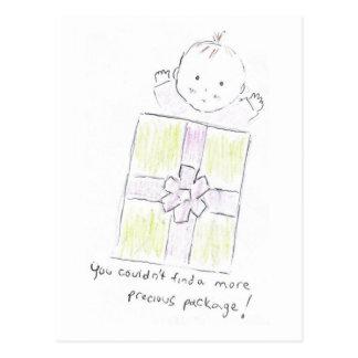 Precious package postcard