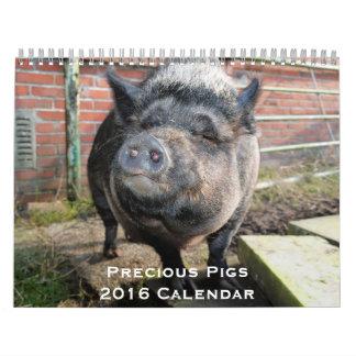 Precious Pigs 2016 Calendar