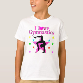 PRECIOUS PINK I LOVE GYMNASTICS DESIGN T-Shirt