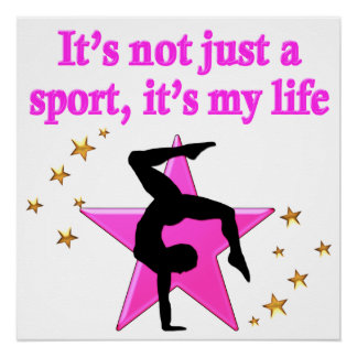 PRECIOUS PINK STAR GYMNASTICS INSPIRATIONAL QUOTE POSTER