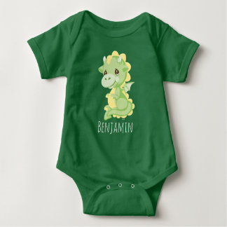 Precious Prince Dragon | Add Your Name Baby Bodysuit