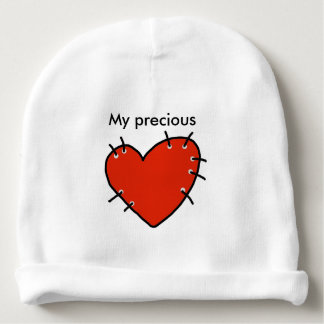 Precious Red Heart Baby Cotton Beanie Baby Beanie