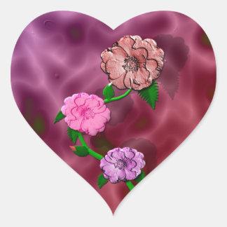 Precious Rosebud Heart Sticker