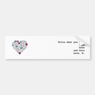precious stones blinking heart bumper sticker