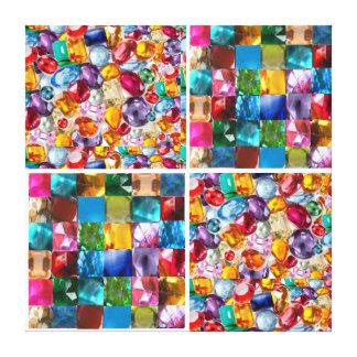 Precious Stones :   Sparkle gems show Canvas Prints