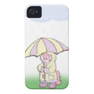 """Precious The Pony"" Rainy Day's! Case-Mate iPhone 4 Case"