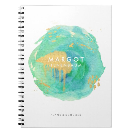 Precious Watercolor Custom Notebook