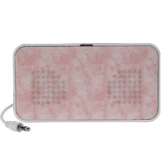 PRECIOUSLY PERFECT PINK CUBES LAYERED TEXTURE BACK iPod SPEAKERS