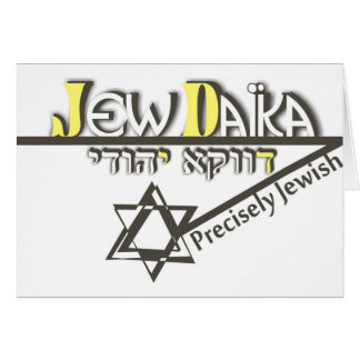 Precisely Jew Note Card