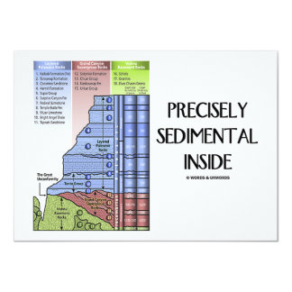 Precisely Sedimental Inside (Grand Canyon Layers) 11 Cm X 16 Cm Invitation Card