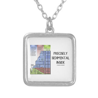Precisely Sedimental Inside (Grand Canyon Layers) Square Pendant Necklace