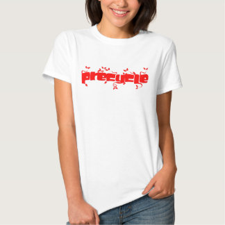 Precycle T-Shirt in Red Leaf  Lettering