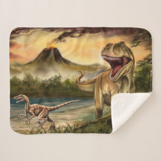 Predator Dinosaurs Small Sherpa Fleece Blanket