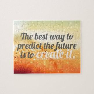 Predict The Future - Motivational Quote Puzzle