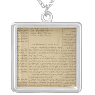 Preface Atlas of the state of Maine Silver Plated Necklace