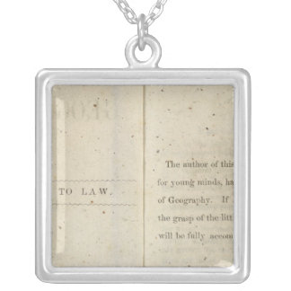 Preface Geographical reader for Dixie children Silver Plated Necklace