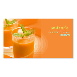 Prefectly fresh carrot juice business card templates