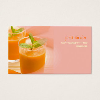 Prefectly fresh carrot juice business card