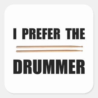 Prefer Drummer Square Sticker