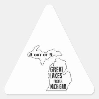 Prefer Michigan Triangle Sticker