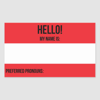 Preferred Pronouns Sticker