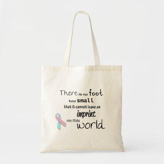 Pregnancy and infant loss awareness tote bag